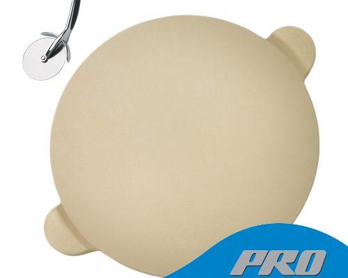 Набор для приготовления пиццы PRO: камень, нож-колесо