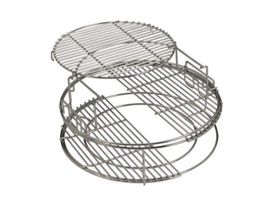 Набор многоуровневых стальных решеток EGGspander для гриля Big Green Egg L , 5 частей