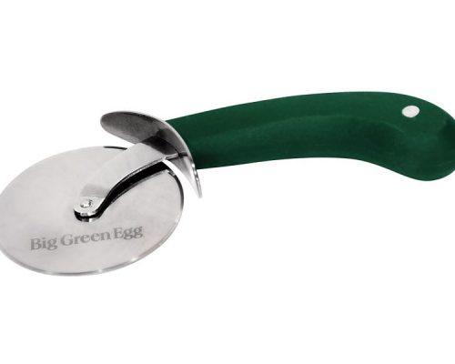 Нож для пиццы, колёсико нерж.сталь, зелёная ручка