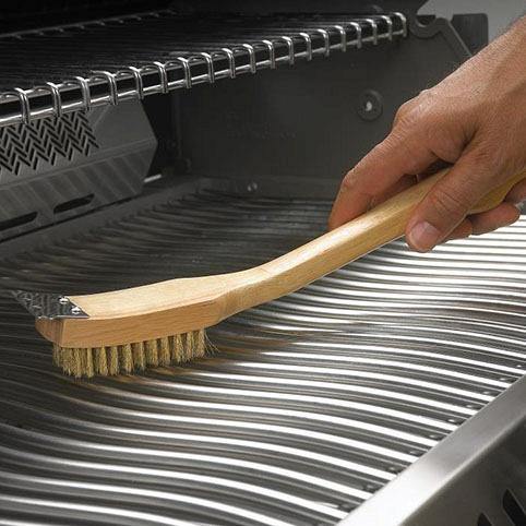Щетка для чистки решеток гриля с латунным ворсом Наполеон использование