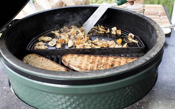 Сковорода полукруглая чугунная для гриля ХL CIGHXL Большое Зеленое Яйцо фото