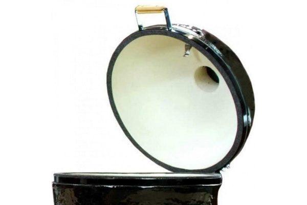 Керамический Гриль Примо ROUND LARGE с открытой крышкой