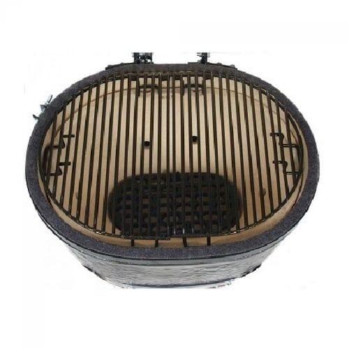 Керамический гриль Примо-Oval-Junior-200 вид с решеткой