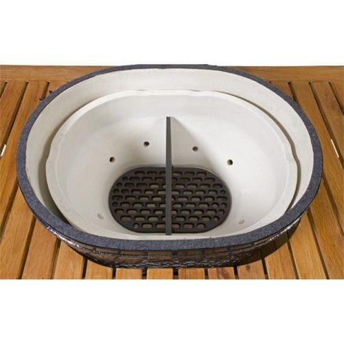 Керамический гриль Примо-Oval-Junior-200 вид сверху
