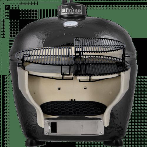 Керамический гриль Примо-Oval-Junior-200 в разрезе