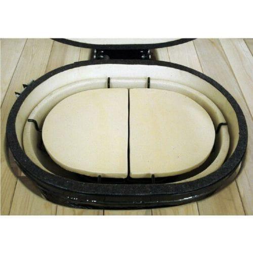 Керамический гриль Primo-Oval-Large-300 вид сверху с отсекателями