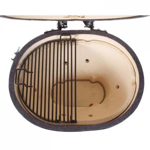 Керамический гриль Примо-Oval-Large-300 вид сверху с одной решеткой