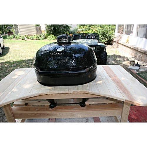 Керамический гриль Примо-Oval-Large-300 в столе