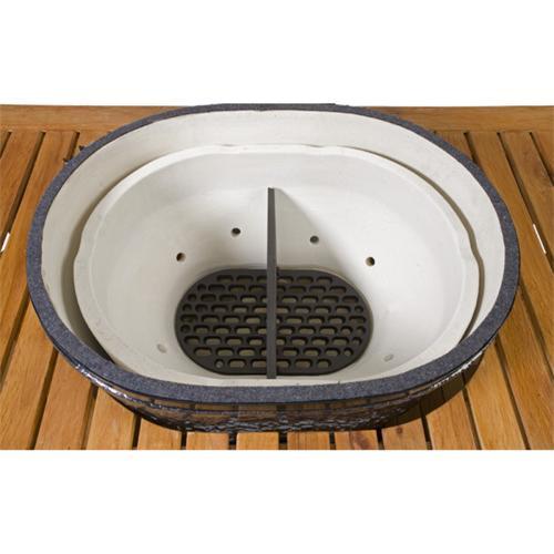 Керамический гриль Примо-Oval-XL 400 вид сверху
