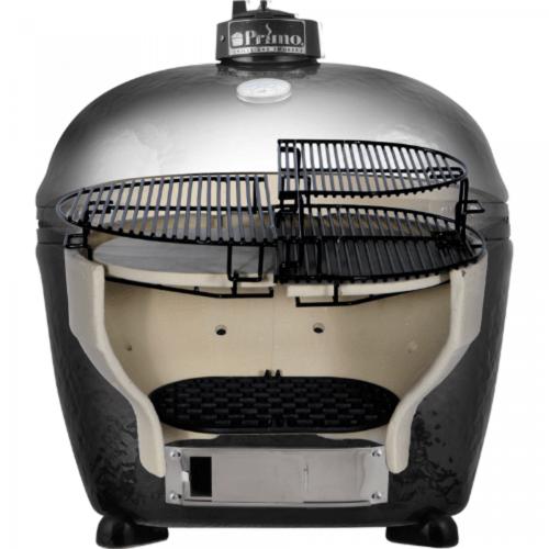 Керамический гриль Примо-Oval-XL 400 в разрезе