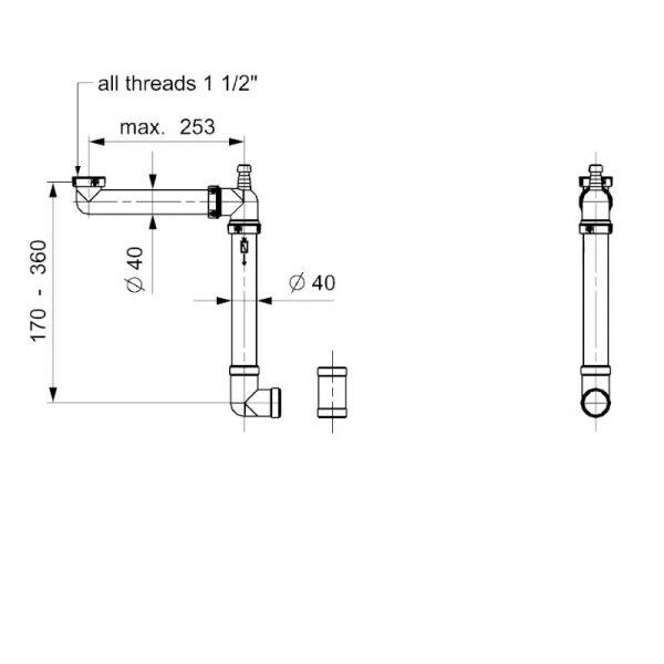Компактный сифон REGINOX, Panama Схема