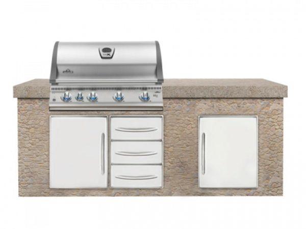 Встраиваемый газовый гриль Наполеон BILEX-605 кухня1