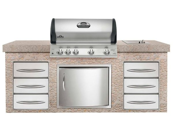 Встраиваемый газовый гриль Наполеон BILEX-605 кухня2