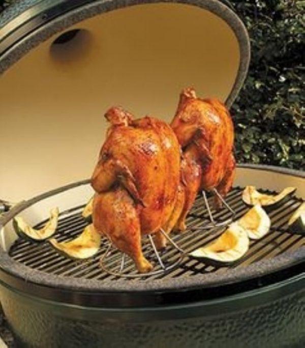Держатель-подставка для курицы, вертикальный, нерж.сталь, для гриля XXL/XL/L/M/S Большое Зеленое Яйцо 1