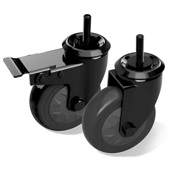 Комплект колес Caster Kit (2 поворотных колеса, одно из них с торомозом) Большое Зеленое Яйцо