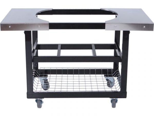 Металлический стол-тележка со столешницами из нержавеющей стали для Примо Овал 200 (JR) 1