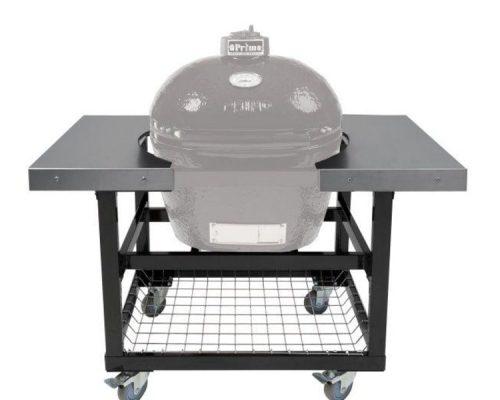 Металлический стол-тележка со столешницами из нержавеющей стали для Primo Oval 200 (JR)