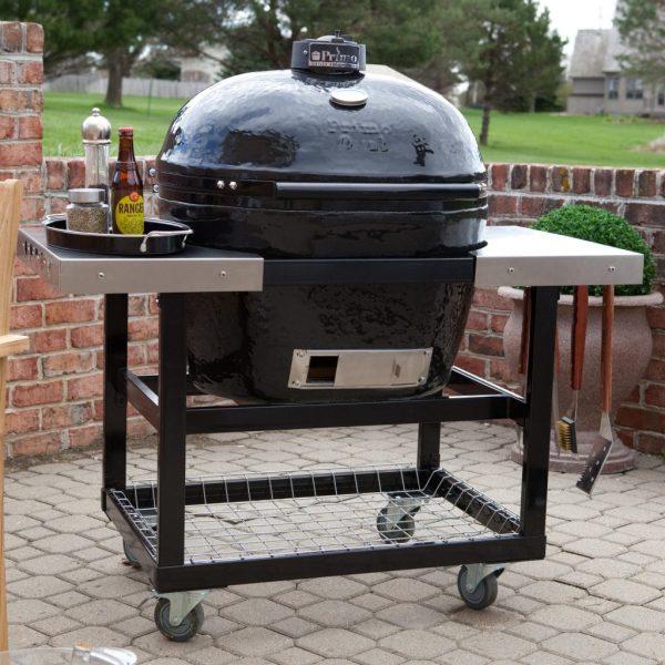Металлический стол-тележка со столешницами из нержавеющей стали для Примо Овал 400 (XL) и 300 (FAMILY) 2