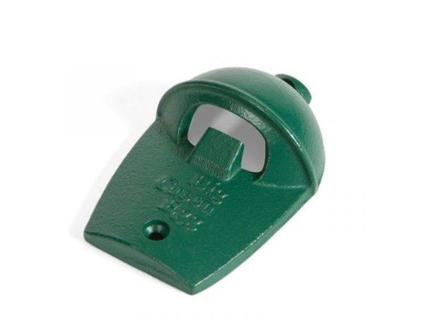 Открывалка для бутылок, зелёная чугунная настенная, в виде гриля Большое Зеленое Яйцо