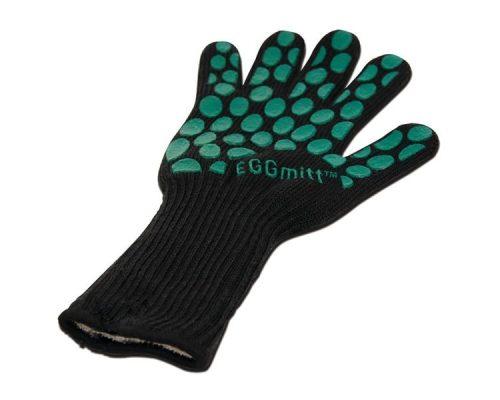 Перчатка-прихватка защитная чёрная, арамид+силикон+хлопок, Big Green Egg