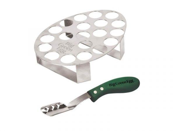 Подставка для перцев халапеньо, вместимость 20шт., нож д/сердцевины, ручка зелёная Большое Зеленое Яйцо