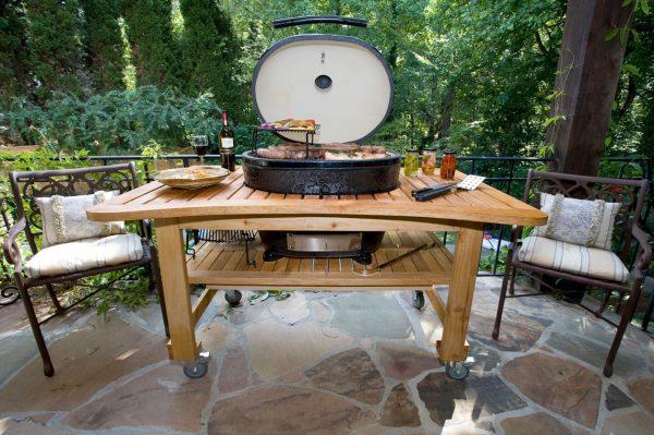 Стол Дубовый для Примо Овал400 (XL), Royal Grills 1