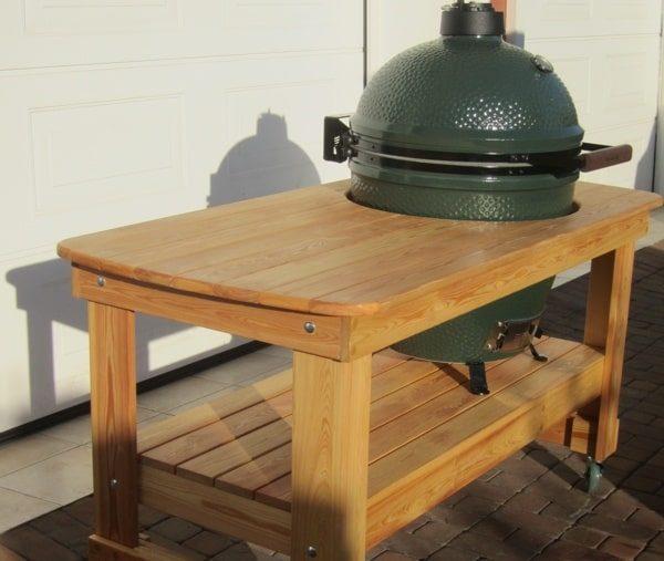 Стол из лиственницы для гриля L Большое Зеленое Яйцо 1