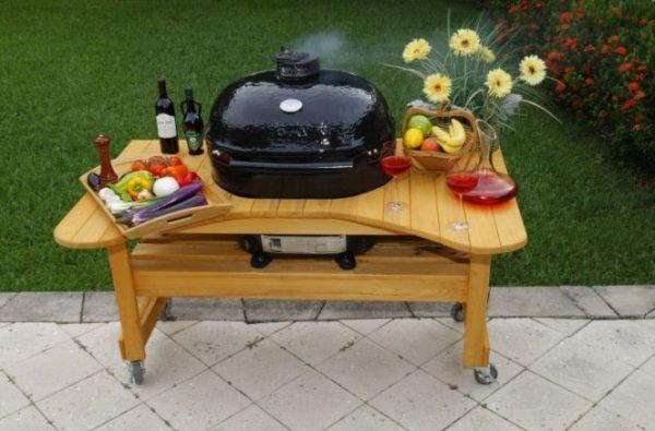 Стол из Лиственницы для Примо Овал 400 (XL), Royal Grills 1