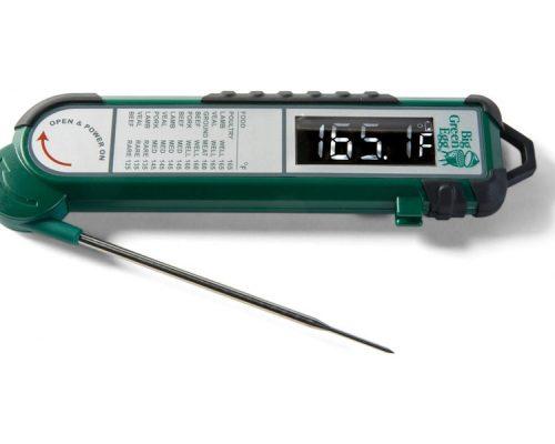 Термометр цифровой, щуп, зелёный корпус