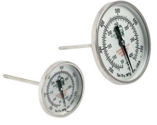 Термометр штатный, круглый, шкала +50/+400С, D76мм для Big Green Egg