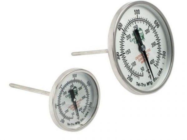 Термометр штатный, круглый, шкала +50/+400С, D76мм Большое Зеленое Яйцо
