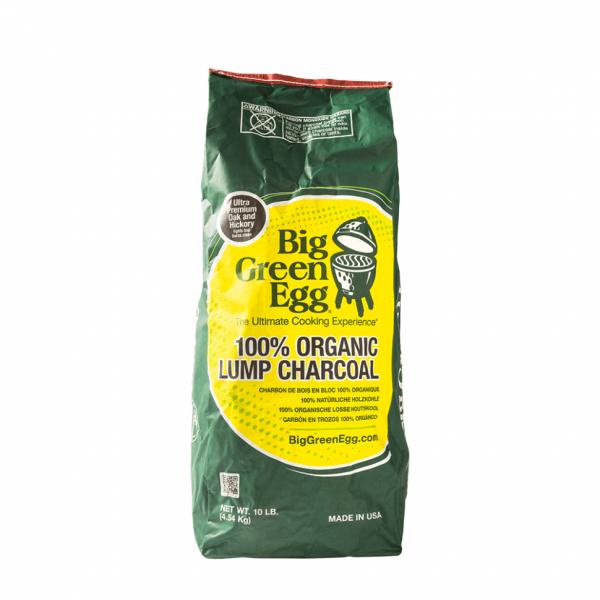 Уголь древесный органический крупнокусковой, пакет 4,5 кг Большое Зеленое Яйцо