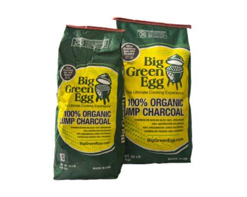 Уголь древесный органический крупнокусковой, пакет 4,5 кг, Big Green Egg