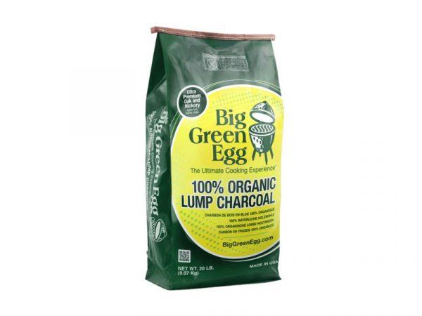 Уголь древесный органический крупнокусковой, пакет 9кг Большое Зеленое Яйцо 1