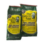 Уголь древесный органический крупнокусковой, пакет 9кг Большое Зеленое Яйцо