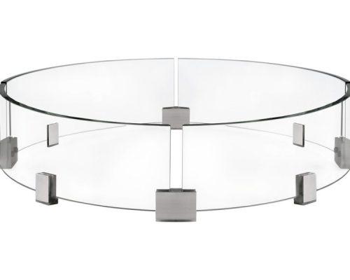 Ветрозащитный экран для круглого стола-камина