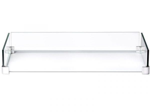 Ветрозащитный экран для прямоугольного стола-камина Наполеон