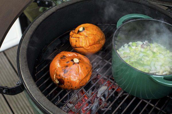 Жаровня чугунная круглая д/гриля, 4.0л, крышка, цвет зеленый Большое Зеленое Яйцо 1