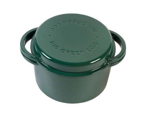 Жаровня чугунная круглая д/гриля, 4.0л, крышка, цвет зеленый
