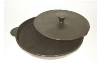 Сковорода чугунная 400 мм с прессом Казаныч