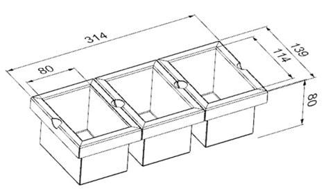 Модуль из трёх контейнеров (Р22993) фото