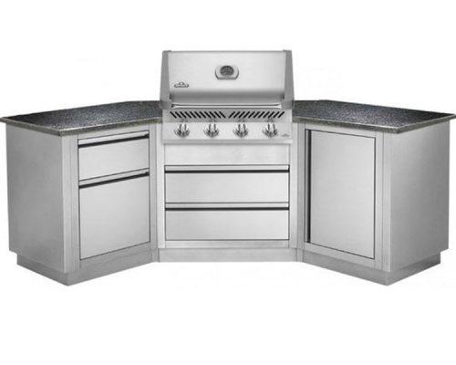 Модульная летняя кухня BBQ Gourmet-200 с грилем NAPOLEON BILEX-605
