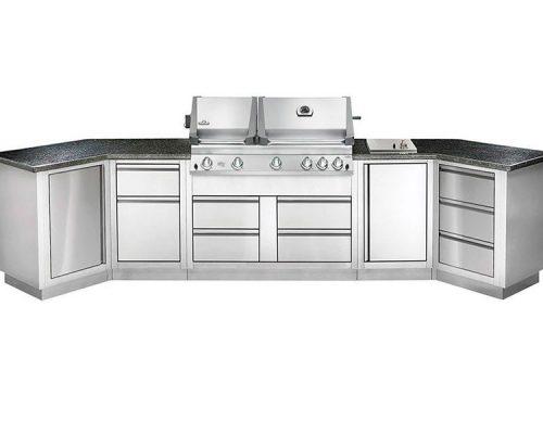 Модульная летняя кухня BBQGourmet 400 с грилем NAPOLEON BILEX-605