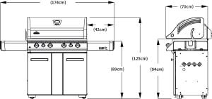 Газовый гриль Наполеон Лекс-605 размеры