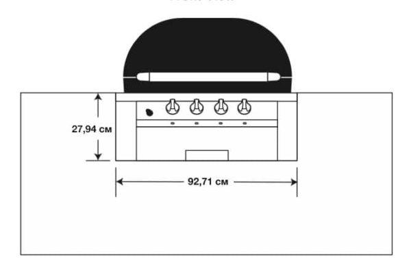Гриль Примо OVAL Газовый размеры