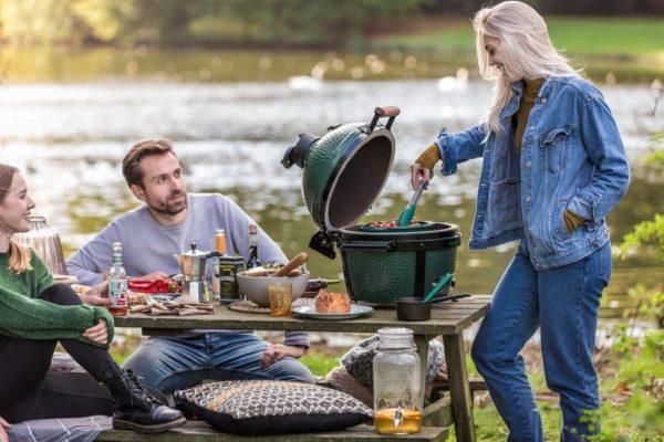 керамический гриль Большое Зеленое Яйцо Минимакс гриль для пикника