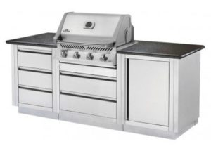 Модульная летняя кухня BBQ Gourmet-100 с грилем Наполеон BILEX-485, приусадебная кухня