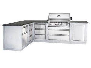 Модульная летняя кухня BBQ Gourmet-300 с грилем Наполеон BILEX-485, гриль зона, барбекю зона