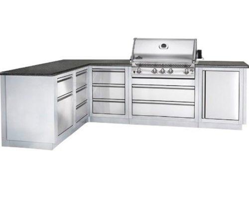 Модульная летняя кухня BBQ Gourmet-300 с грилем NAPOLEON BILEX-485