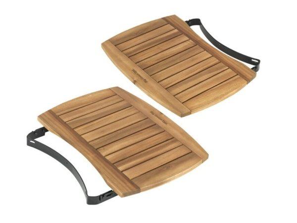 Столики навесные из акации для гриля Биг Грин Егг ХЛ, 53х38 см, комплект 2шт.